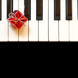 Christmas ornament on piano stock images