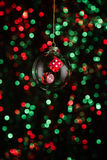 Christmas ornament with poker game lement Stock Images