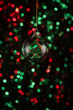 Christmas ornament with poker game lement Royalty Free Stock Photo