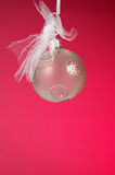 Christmas Ornament with Red Background Royalty Free Stock Photography