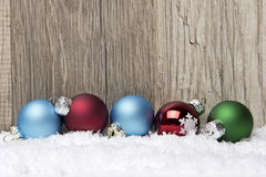 Christmas ornament red, blue and green Stock Image