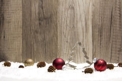 Christmas ornament red and brown Royalty Free Stock Photo