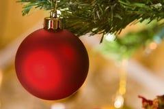 christmas ornament red tree Στοκ Φωτογραφίες