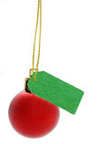 Christmas Ornament. A red christmas ornament on a tree isolated on a white background Royalty Free Stock Photo