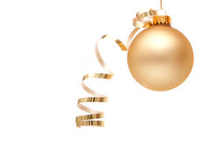 Christmas ornament with ribbon Royalty Free Stock Photos