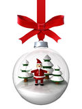 Christmas ornament with Santa Royalty Free Stock Image