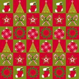 Christmas ornament seamless pattern Stock Image