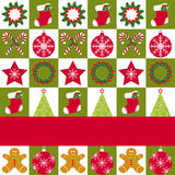 Christmas ornament seamless pattern greeting card royalty free stock images