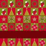 Christmas ornament seamless pattern greeting card Stock Image