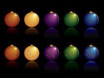 Christmas ornament set Royalty Free Stock Images