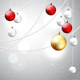 Christmas ornament shiny background Royalty Free Stock Photos