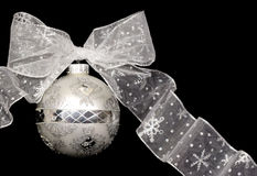 Christmas Ornament (Silver) Stock Images