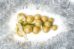 Christmas Ornament silver and gold Royalty Free Stock Images