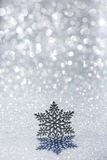 Christmas ornament on snow Stock Photography
