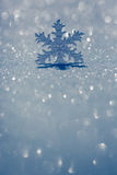 Christmas ornament on snow Royalty Free Stock Photography