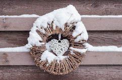 Christmas ornament in the snow Royalty Free Stock Photo
