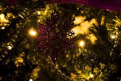 Christmas ornament. Snow flake from christmas tree decoration Royalty Free Stock Photo