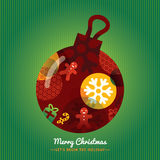 Christmas Ornament symbol illustration on Green background Royalty Free Stock Photography
