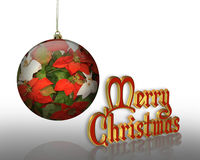 Christmas ornament and text Royalty Free Stock Photography