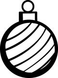 Christmas ornament vector illustration Stock Images