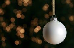christmas ornament white Στοκ Φωτογραφία