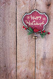 Christmas ornament on a wooden background Stock Photos