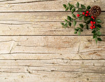 Christmas ornament on wooden background Royalty Free Stock Image