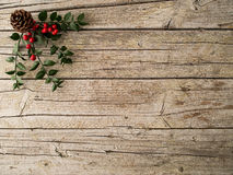 Christmas ornament on wooden background Royalty Free Stock Images