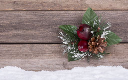 Christmas Ornament on Wooden Background Royalty Free Stock Photography