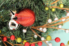 Christmas ornament on a wreath Royalty Free Stock Image