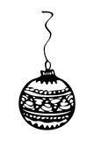 Christmas ornament, zentangle style sketch Stock Image