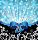 Christmas ornamental background, glowing design Stock Photography