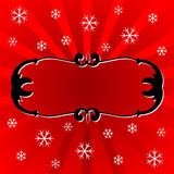 Christmas ornamental frame Royalty Free Stock Photography