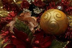 Christmas ornamental golden ball Royalty Free Stock Photos