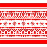 Christmas Ornamental Pattern Template in Red Stock Photos