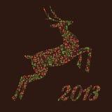 Christmas  ornamental reindeer Royalty Free Stock Photos