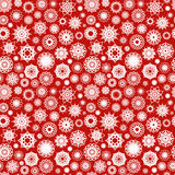 Christmas Ornamental Snowflakes Pattern Stock Photography