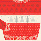 Christmas Ornamental Sweater Card - Ugly Party Sweater Stock Photos