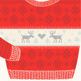 Christmas Ornamental Sweater Royalty Free Stock Photos