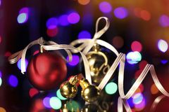 Christmas. Ornamentations were photographed in studio environment Stock Images