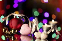 Christmas. Ornamentations were photographed in studio environment Stock Photos