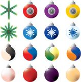 Christmas ornaments. Layered and grouped illustration for easy editing Stock Photo