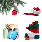 Christmas ornaments. Set of Christmas ornaments and gifts Royalty Free Stock Photos