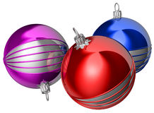 Christmas ornaments. Shiny Christmas ornaments Royalty Free Stock Photography