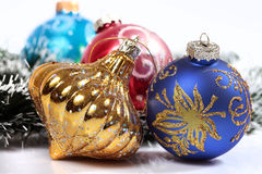 Christmas ornaments. Few christmas ornaments. Holiday season Stock Images