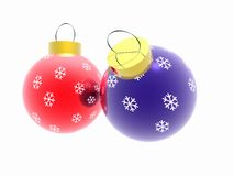 Christmas ornaments. New Year's imaginations. Christmas ornaments. Fur-tree toys. 3D Stock Images