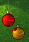 Christmas ornaments. 3D rendering and illustration Royalty Free Stock Image