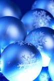 Christmas ornaments. With blue shade Stock Photo
