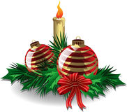 Christmas ornaments. For your greeting card Stock Photo