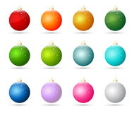 Christmas ornaments. On the white background Royalty Free Stock Photo